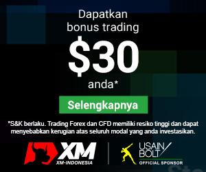 XM Bonus tanpa deposit $30
